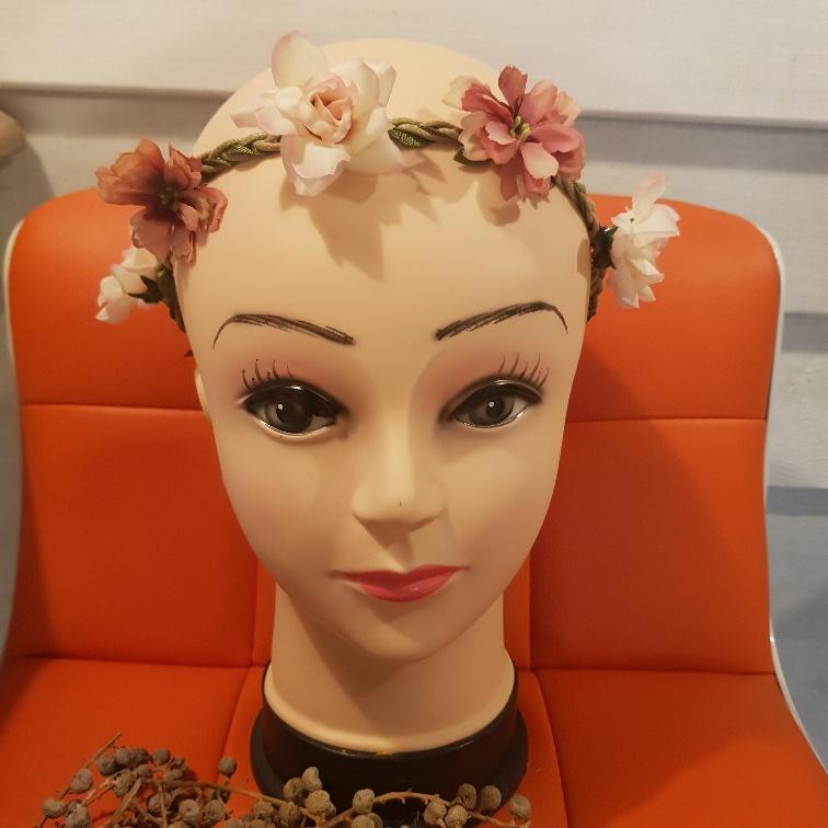Bloemenkrans gemengd roze