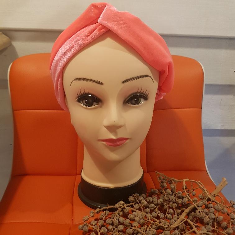 Haarband fluweel roze