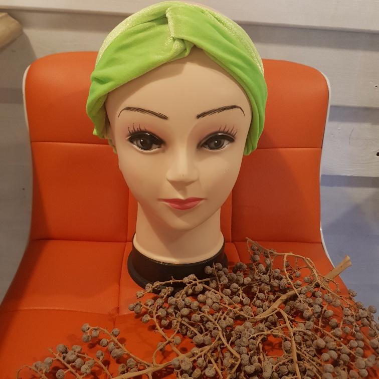 Haarband fluweel groen