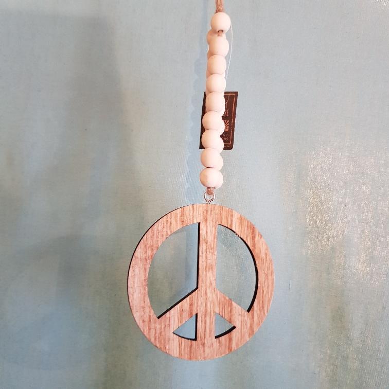 Hout peace teken