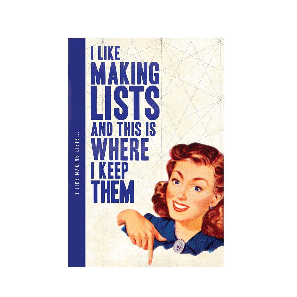 Notebook XL lists