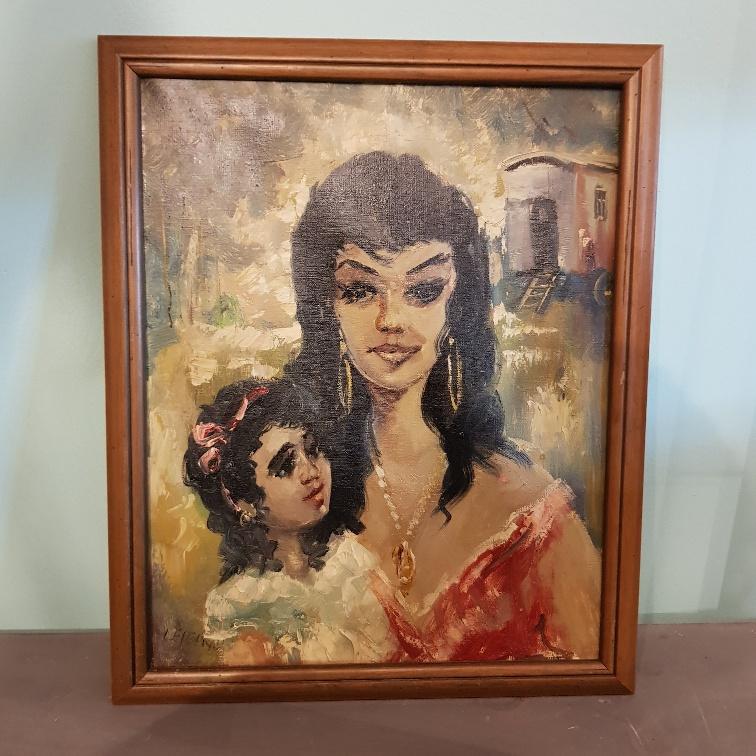 Schilderij zigeunermeisje