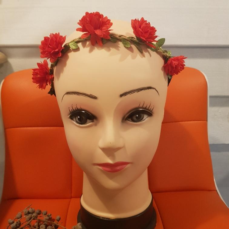 Bloemenkrans rood