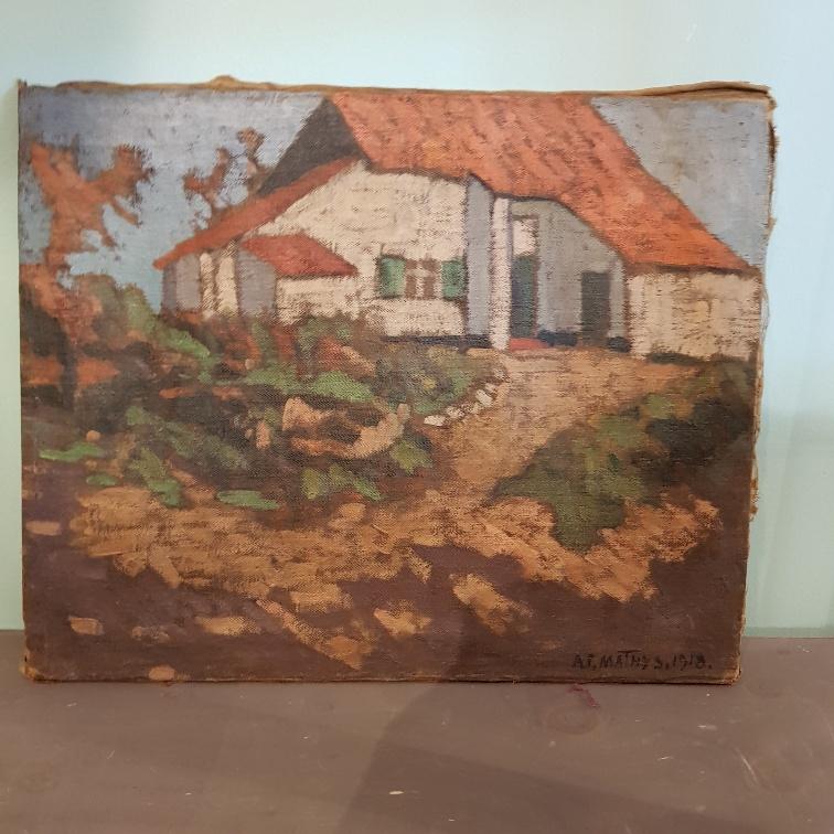 Schilderij boerderij