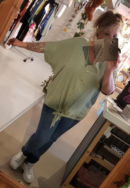 Knoop blouse army